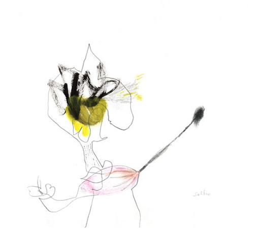 selfie – Zeichnung Kerstin Mer